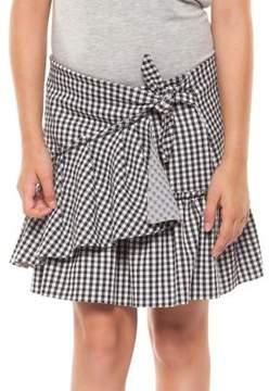 Dex Girl's Ruffled Gingham Skirt