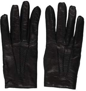 Max Mara Leather Knit Gloves