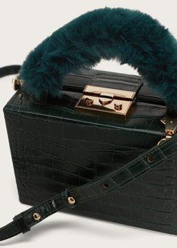 Violeta BY MANGO Faux-fur handle box bag