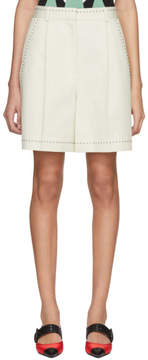Bottega Veneta Off-White Studded High-Waisted Shorts