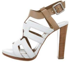 Hermes Leather Cage Sandals
