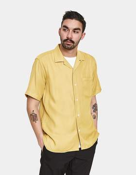 Gitman Brothers Yellow Rayon Camp Shirt