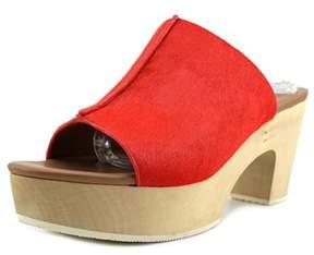 Elie Tahari Tortuga Open Toe Suede Platform Sandal.