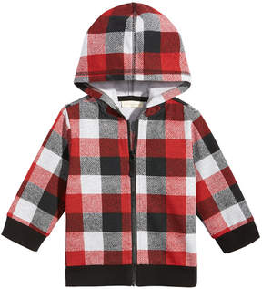 First Impressions Plaid Zip-Up Hoodie, Baby Boys (0-24 months), Created for Macy's