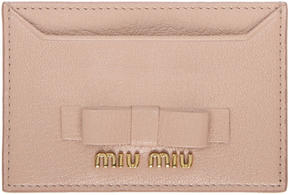 Miu Miu Pink Leather Bow Card Holder