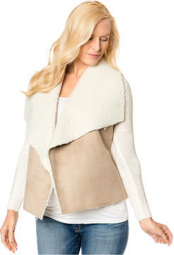 Design History Maternity Faux-Shearling Sweater Jacket
