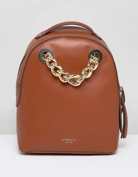 Fiorelli Anouk Mini Backpack in Tan With Chain Detail