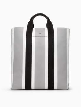 Calvin Klein striped jacquard shopper tote