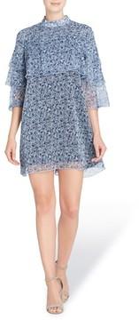 Catherine Malandrino Women's Cass Print Chiffon Dress