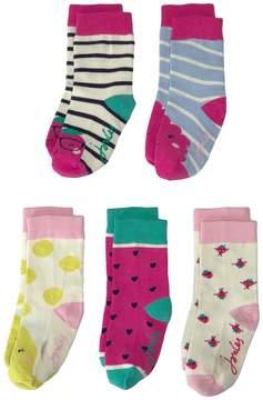 Joules Kids Sox Box 5-Pair Set Girls Shoes