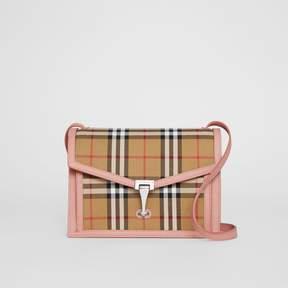 Burberry Small Vintage Check and Leather Crossbody Bag