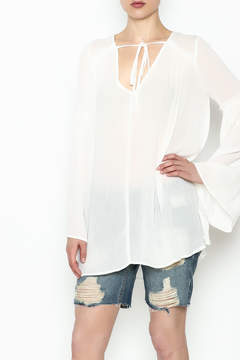 Cotton Candy Bell Sleeve Blouse