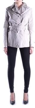 Geospirit Women's Grey Polyester Trench Coat.