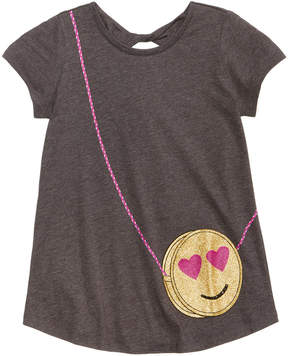 Jessica Simpson Smiley Purse-Pocket T-Shirt, Big Girls (7-16)