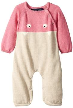 Toobydoo Little Monsters III Cotton Knit Jumpsuit Girl's Jumpsuit & Rompers One Piece