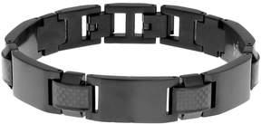 Lynx Men's Stainless Steel Black Ion Plated Bracelet