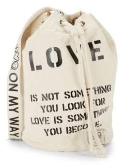 Peace Love World Sling Bucket Bag