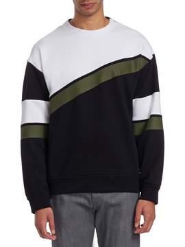 Prada Linea Rossa Men's Crewneck Cotton Sweater