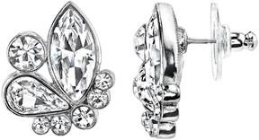 1928 Crystal Geometric Cluster Stud Earrings