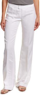 Ecru Linen-Blend Pant
