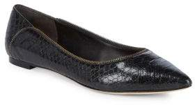 Donna Karan Netta Snake Print Leather Flats