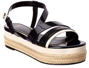 Lanvin Patent Platform Sandal.