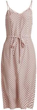 DAY Birger et Mikkelsen HVN Lily polka-dot print silk slip dress