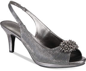 Karen Scott Breena Slingback Peep-Toe Pumps, Created For Macy's Women's Shoes