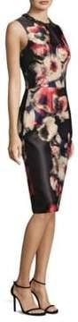 David Meister Floral Jacquard Dress