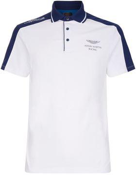 Hackett Aston Martin Contrast Panel Polo Shirt