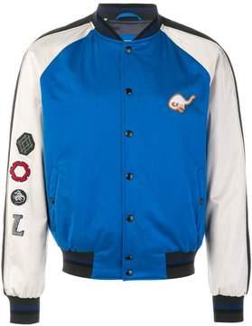 Lanvin varsity dinosaur bomber jacket