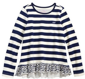 Vineyard Vines Girl's Etched Whale Ruffle Top