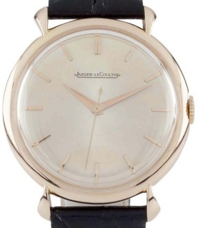 Jaeger-LeCoultre Jaegar LeCoultre 18K Rose Gold & Leather Manual 31mm Mens Watch