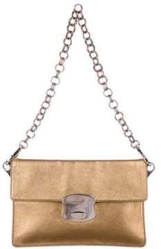 Prada Metallic Saffiano Chain Bag