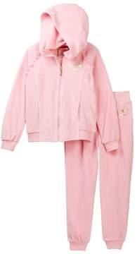 Juicy Couture Light Pink Velour Hoodie & Pants Set (Toddler Girls)