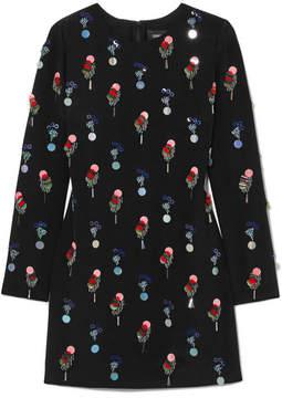 Cushnie et Ochs Cecily Embellished Silk-crepe Mini Dress - Black
