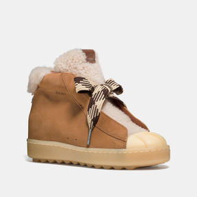 COACH HIGH TOP HIKER WITH SHEARLING - CAMEL