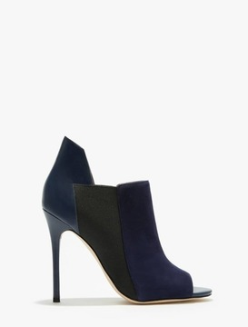 Halston Madison Leather Suede Combined Shoetie