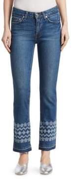 Derek Lam 10 Crosby Jane Embroidered Jeans