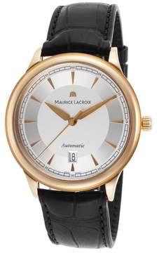 Maurice Lacroix Les Classiques LC6008-PG101-130-BLK 18K Rose Gold 40mm Mens Watch