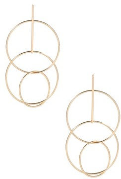 Ettika Women's Circle Statement Earrings
