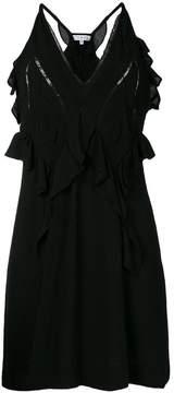 IRO ruffle V-neck dress