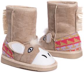 Muk Luks Tan Horse Boot - Kids