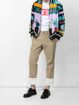 Loewe Turn-up chino trousers