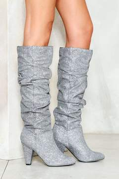 Nasty Gal Making Me Ruche Heeled Boot