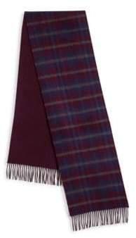 Saks Fifth Avenue Plaid Merino Wool & Cashmere Scarf