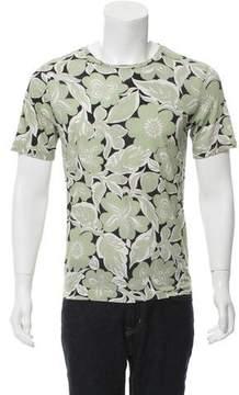 Dries Van Noten Floral Print Crew Neck T-Shirt