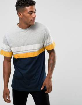 Pull&Bear T-Shirt With Stripes In Gray