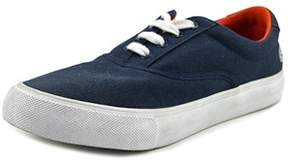 Lacoste Bellevue Sum Youth Round Toe Canvas Blue Sneakers.