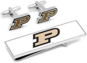 Ice Purdue Boilermakers Cufflinks and Money Clip Gift Set